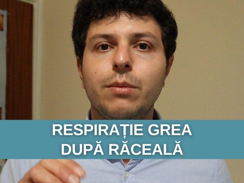 Respirație grea după răceală la plămâni – poate fi astm bronșic?